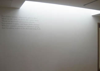 text lit by skylight
